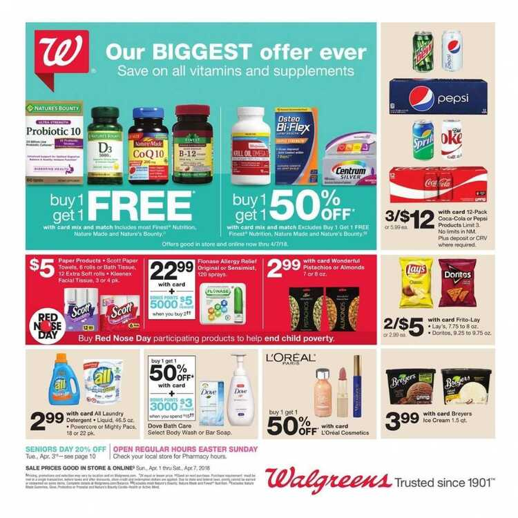 walgreens weekly ad April 2 2018 to April 7 2018