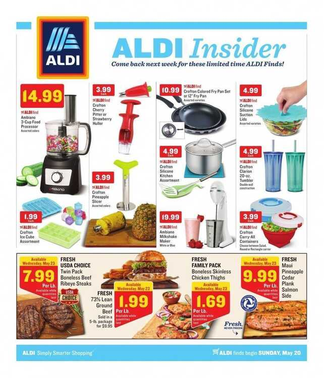 Weekly Sales Circular >> Aldi Sales Ad For This Week May 20 To May 26 2018 Weekly Ads
