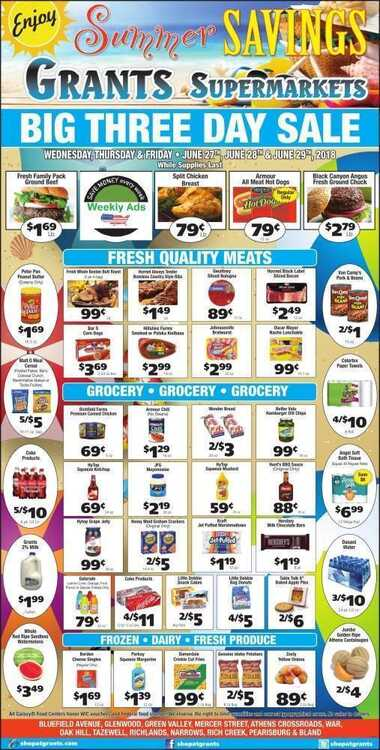 grants supermarket 3 day sale for june 27th 28th 29th 2018