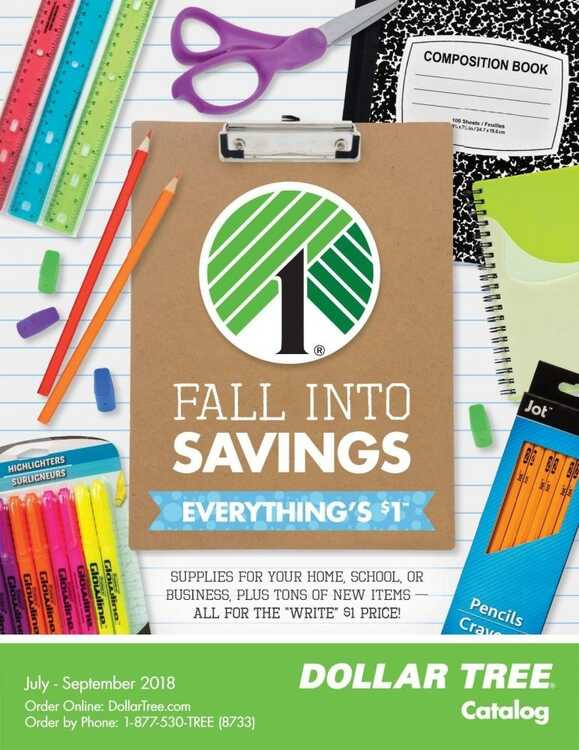 dollar tree store weekly ad 7/10 to 7/30 2018 FALL INTO SAVINGS