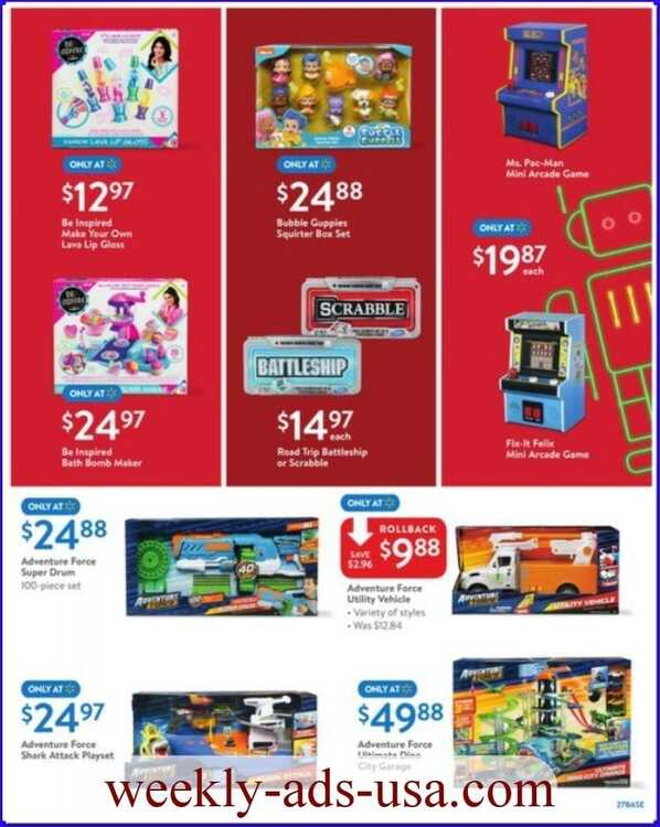 walmart weekly ad 11/7 - 11/17 Free Same-Day Grocery Pickup