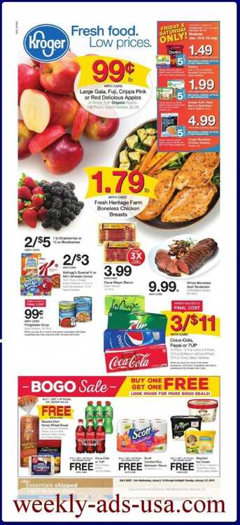 kroger weekly ad january 2019