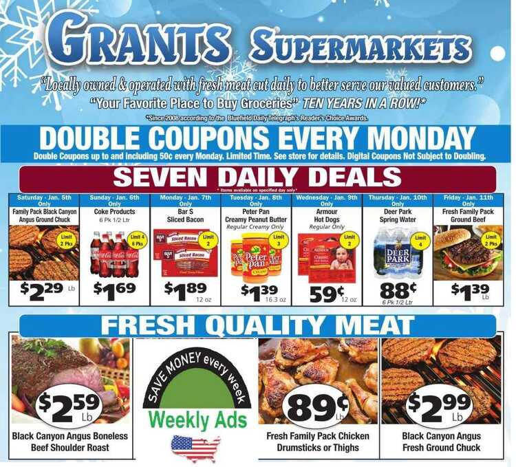 grant's weekly ad 1/9